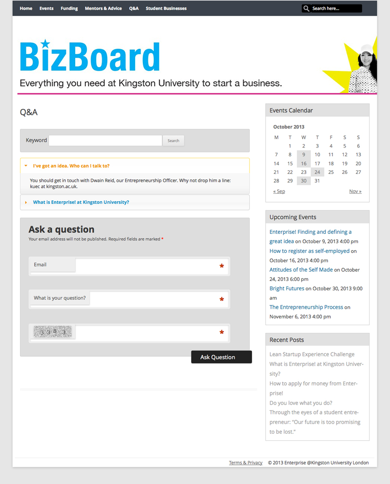 bizboard website