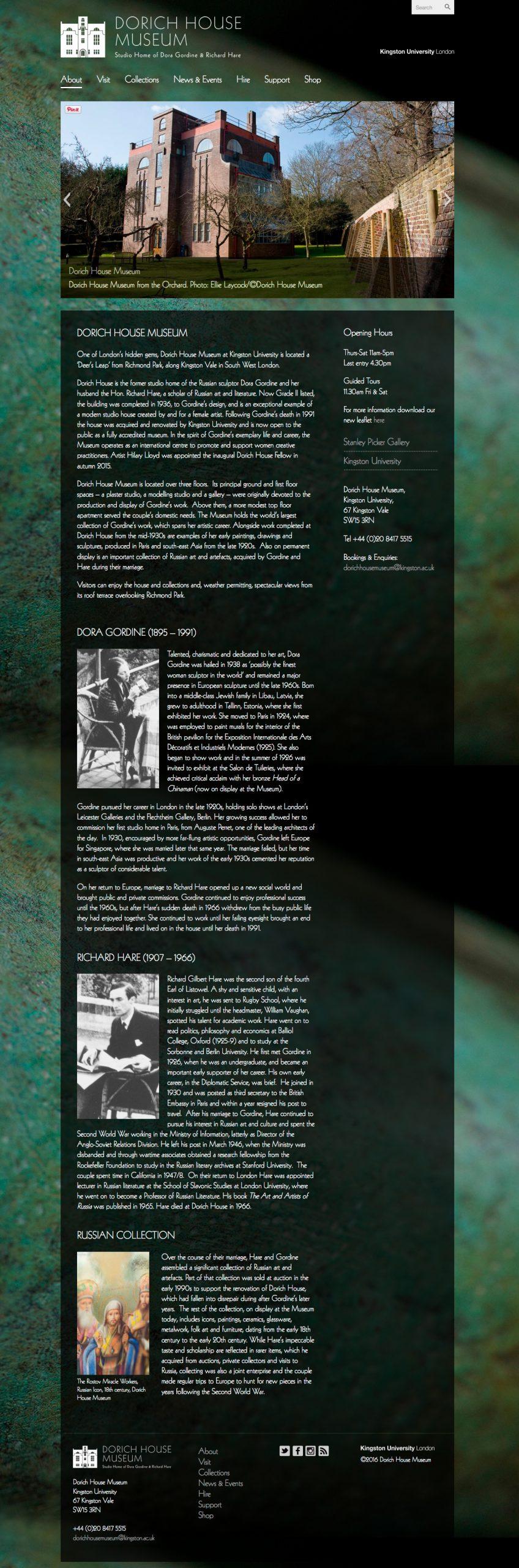 dorichhousemuseum web homepage