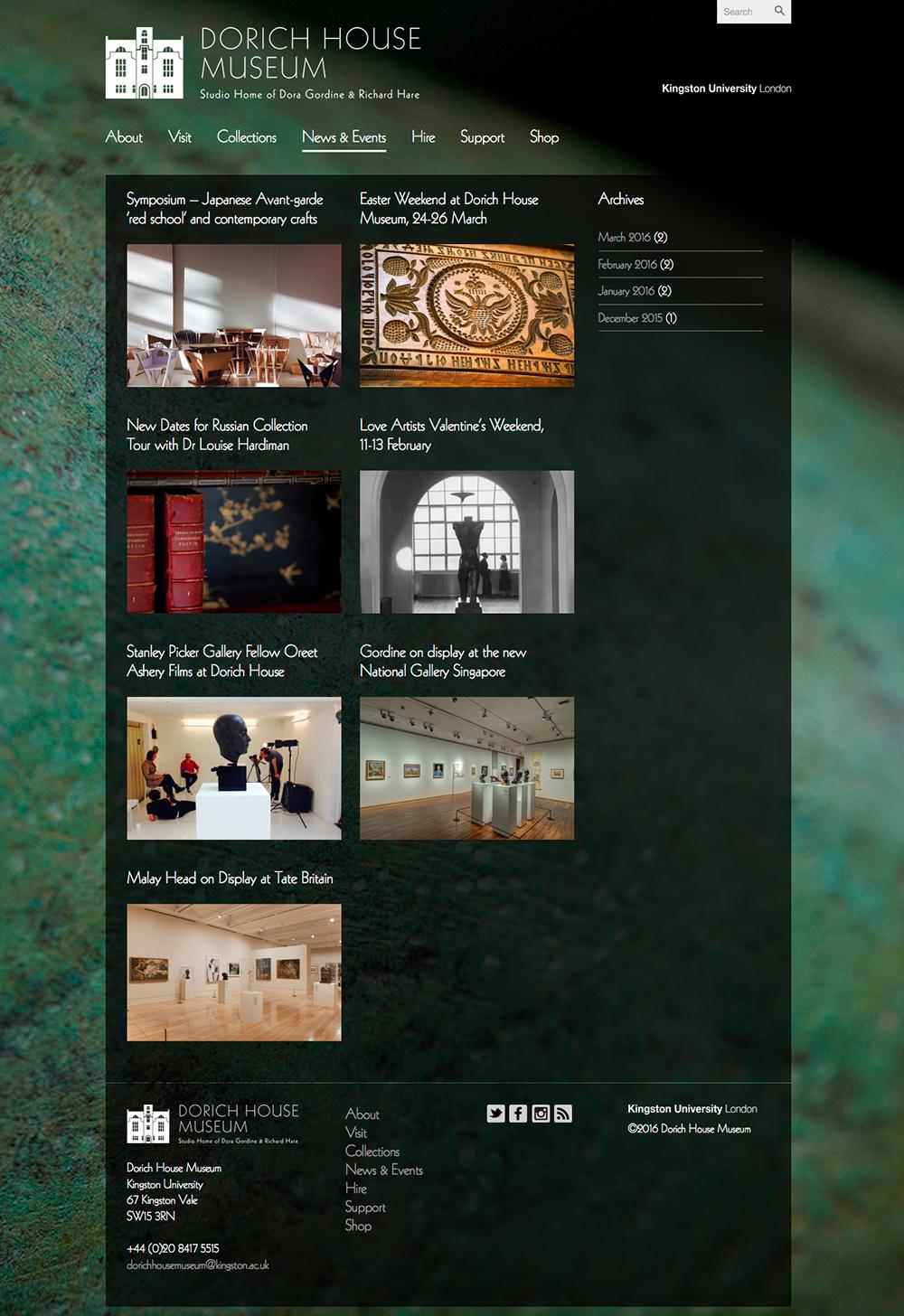 dorichhousemuseum news page