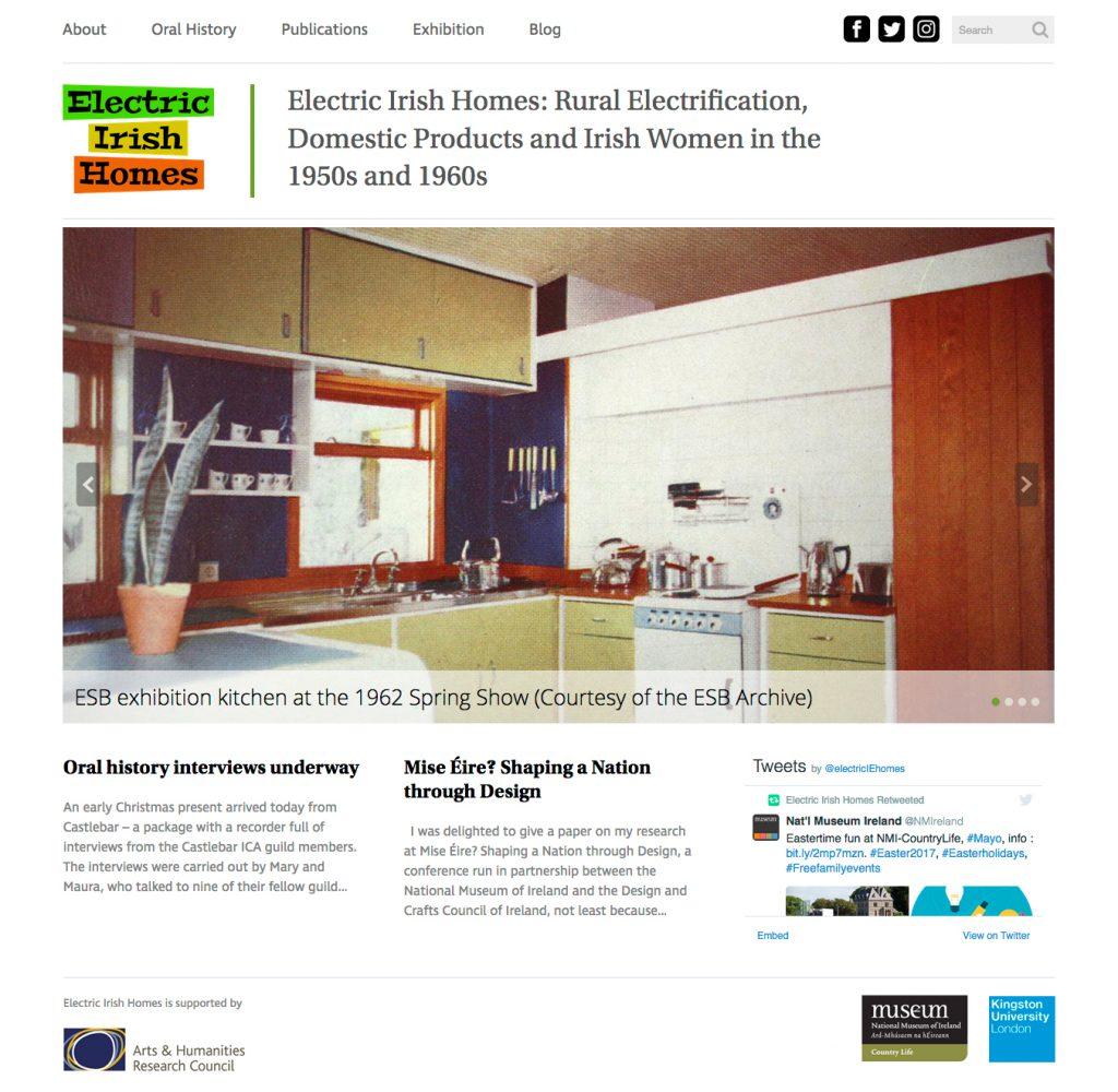 Electric Irish Homes website screenshot
