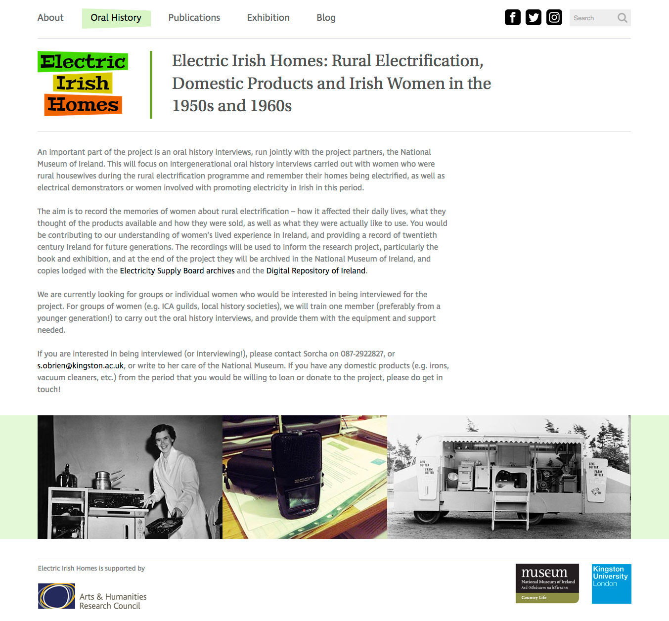 Electric Irish Homes website screenshot