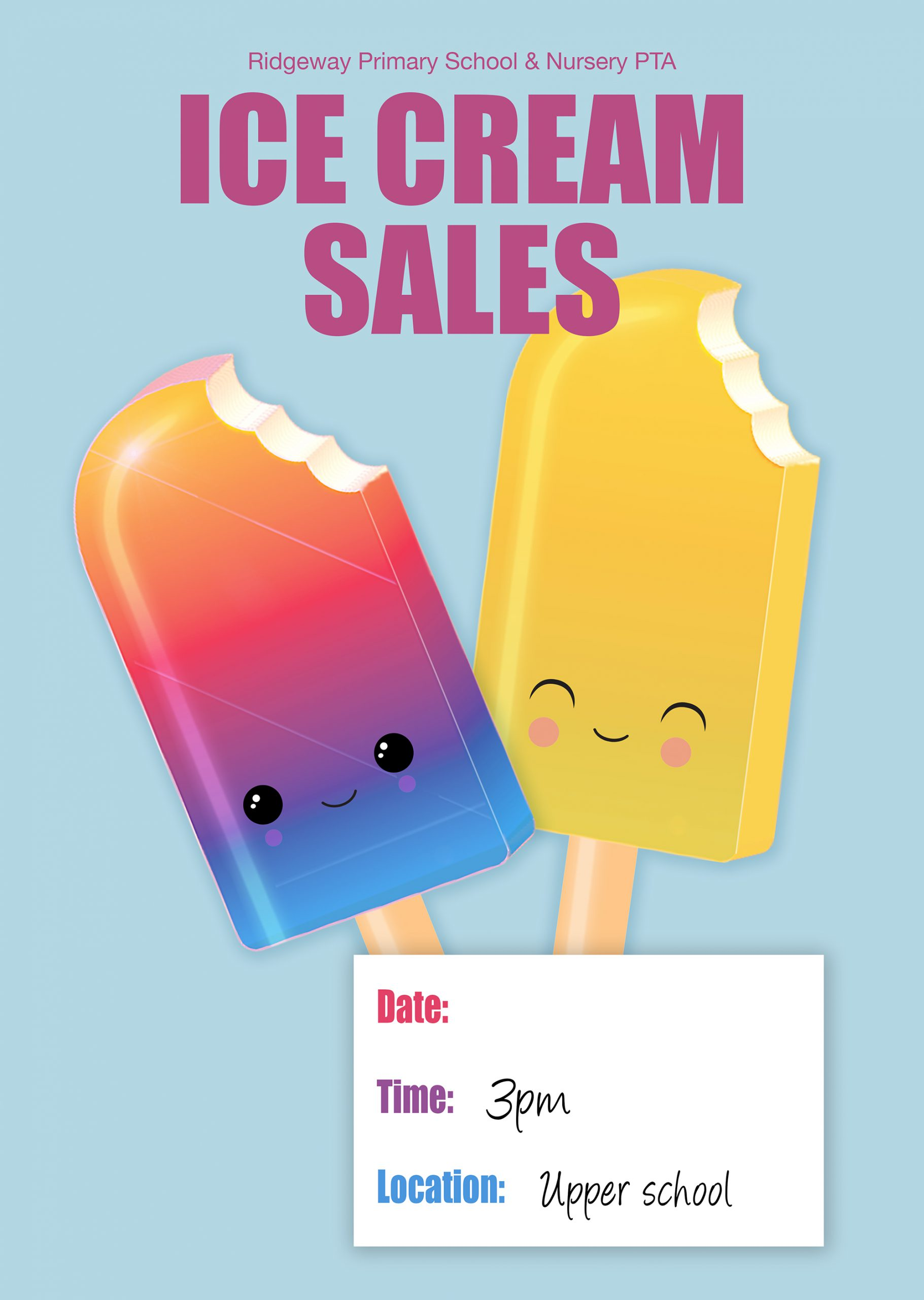 Ice cream sales poster