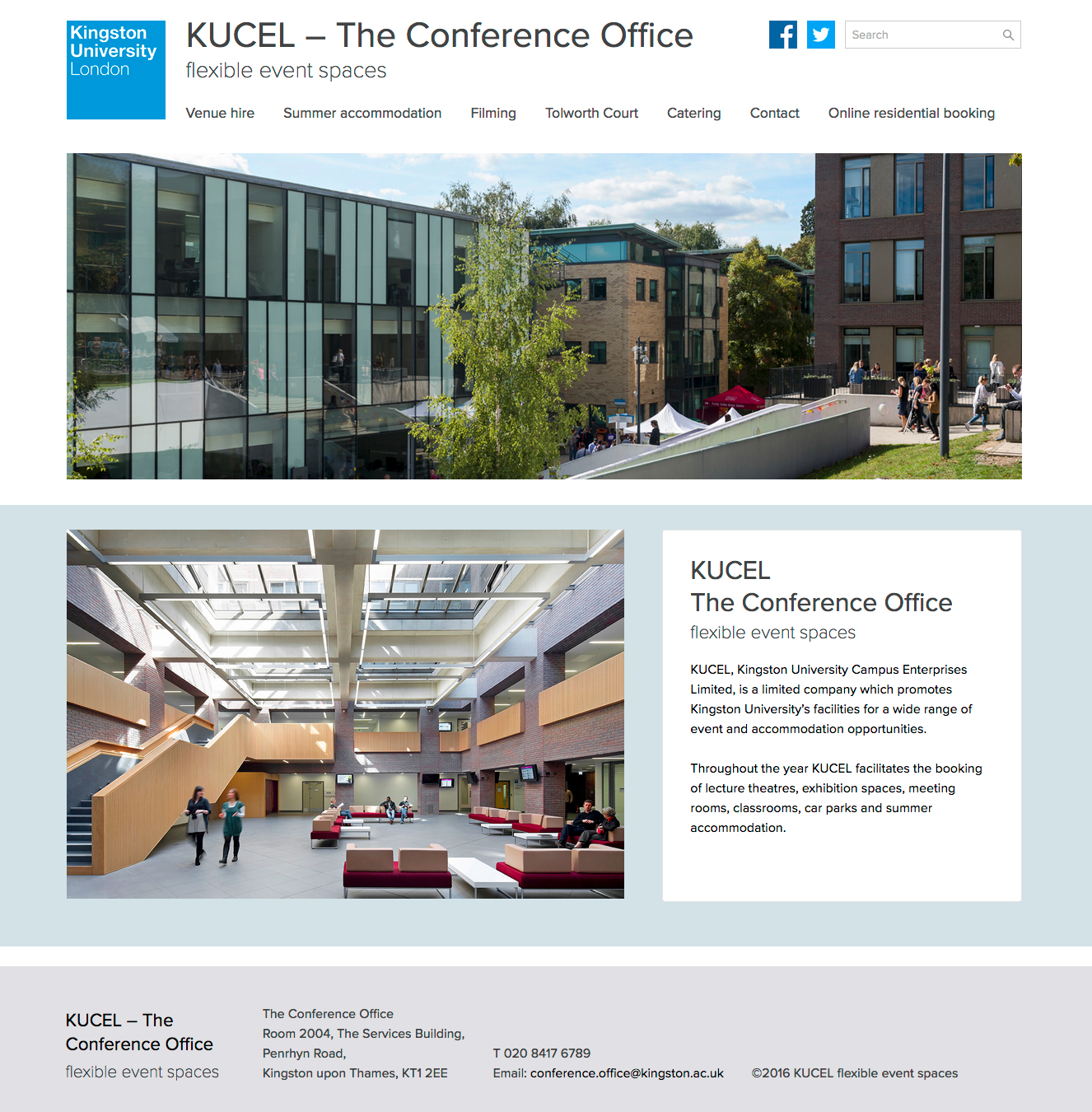 KUCEL website screenshot