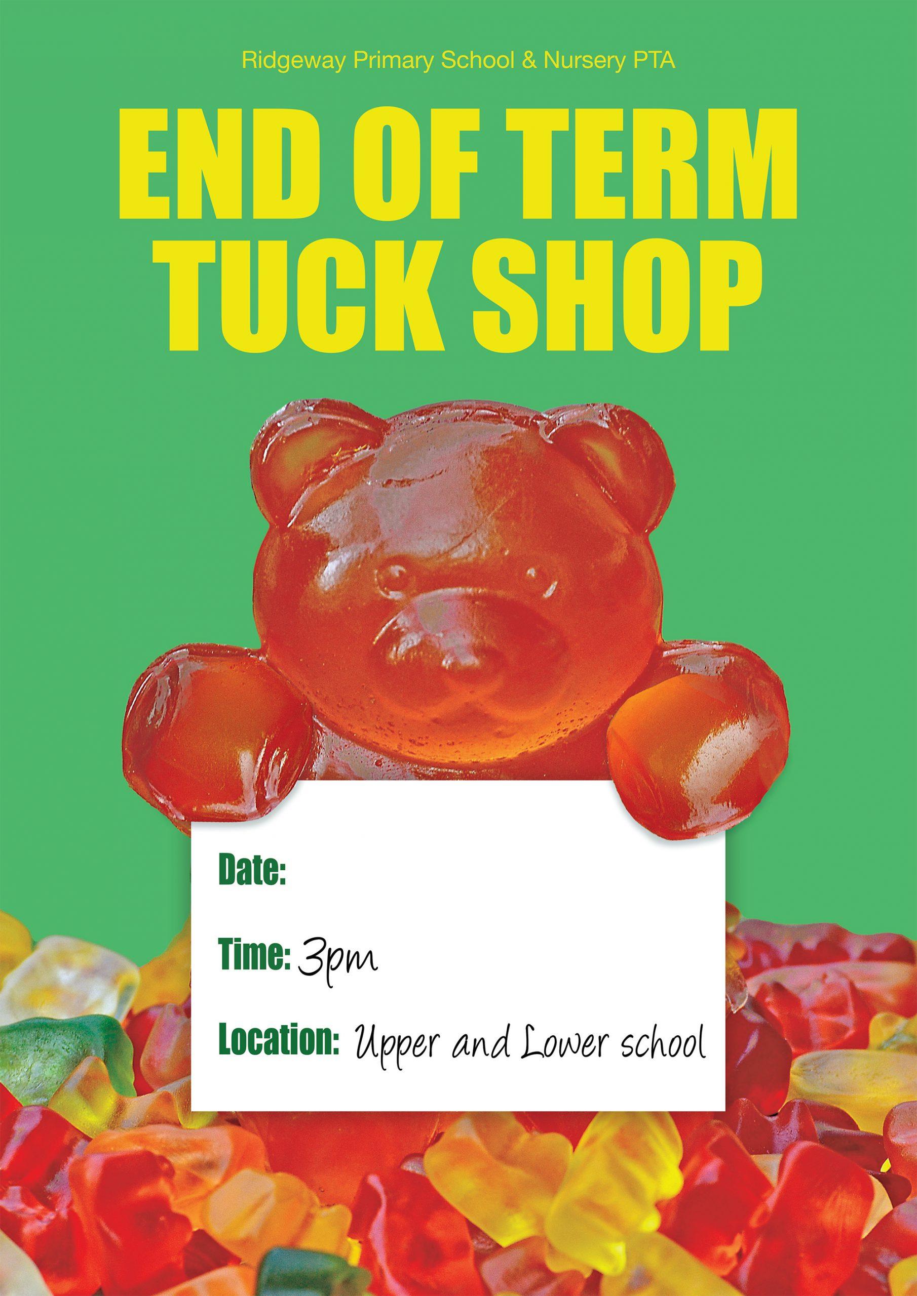 Tuck shop poster