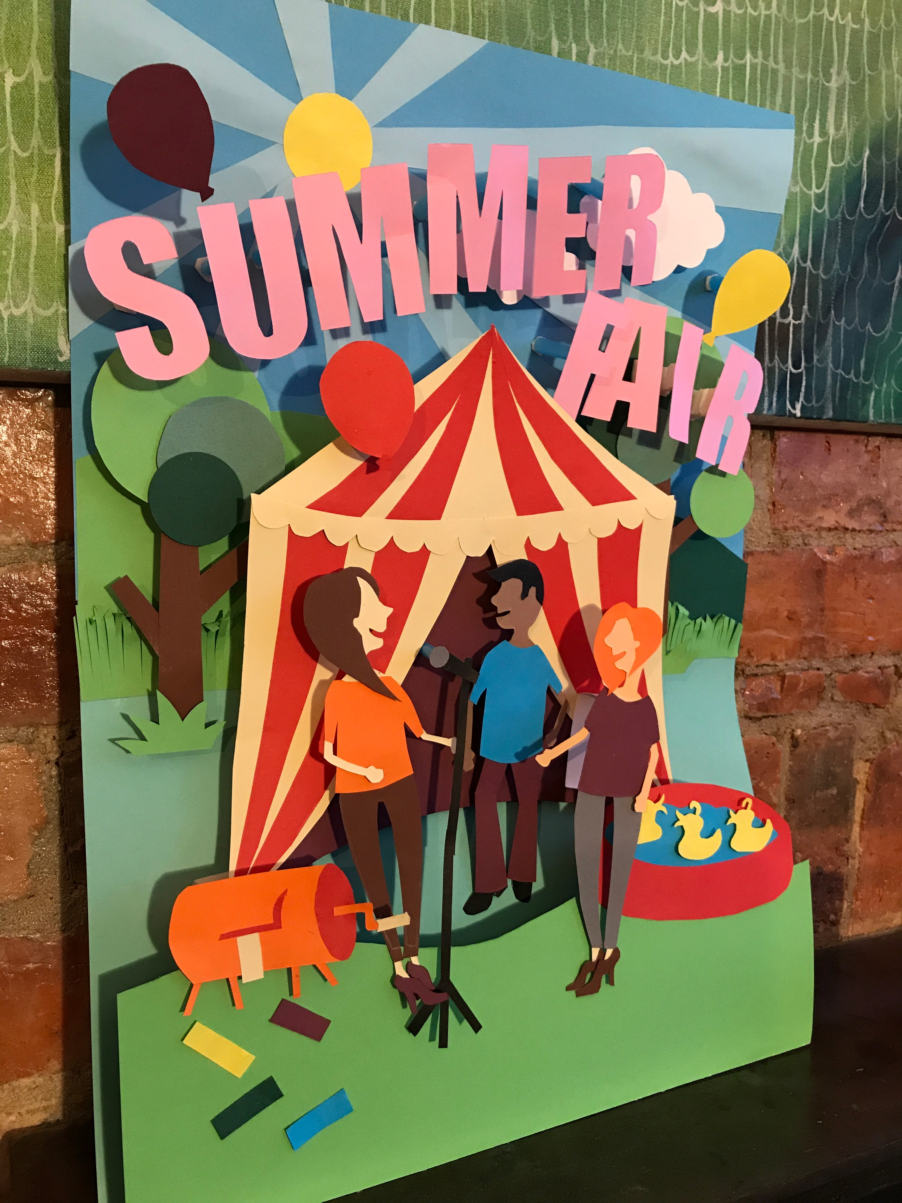 Summer fair poster without text