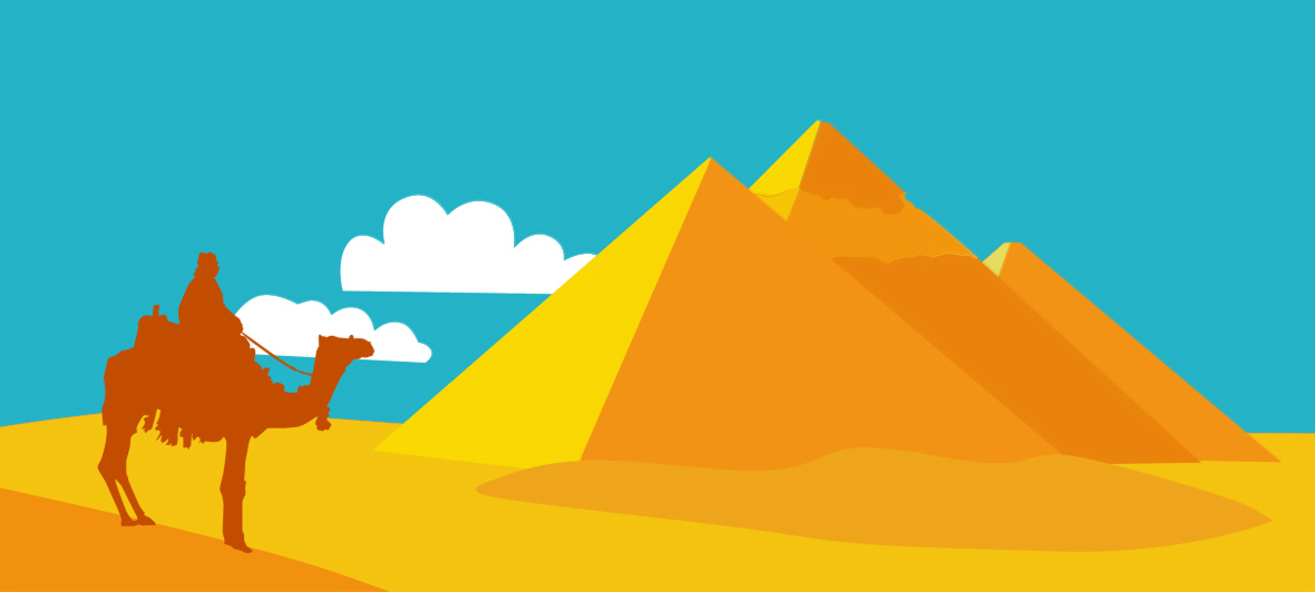 vector illustration of pyramids in Egypt