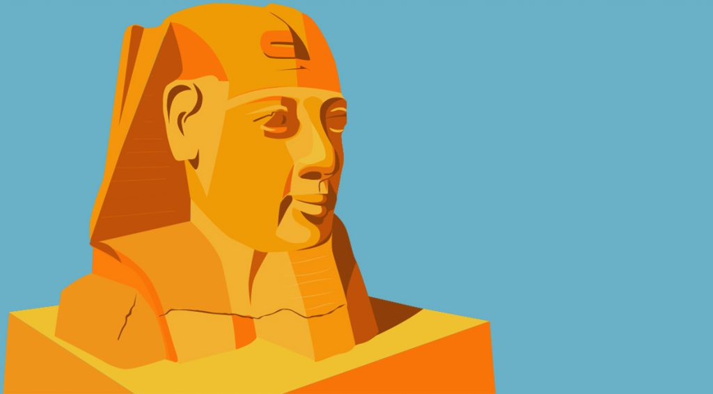 Digital illustration of the Great Sphinx of Giza