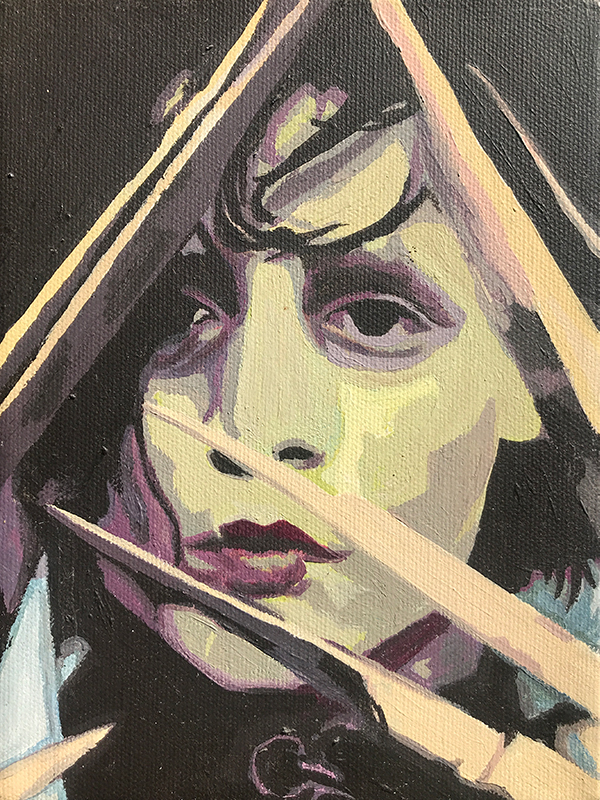 Painting of Edward Scissorhands