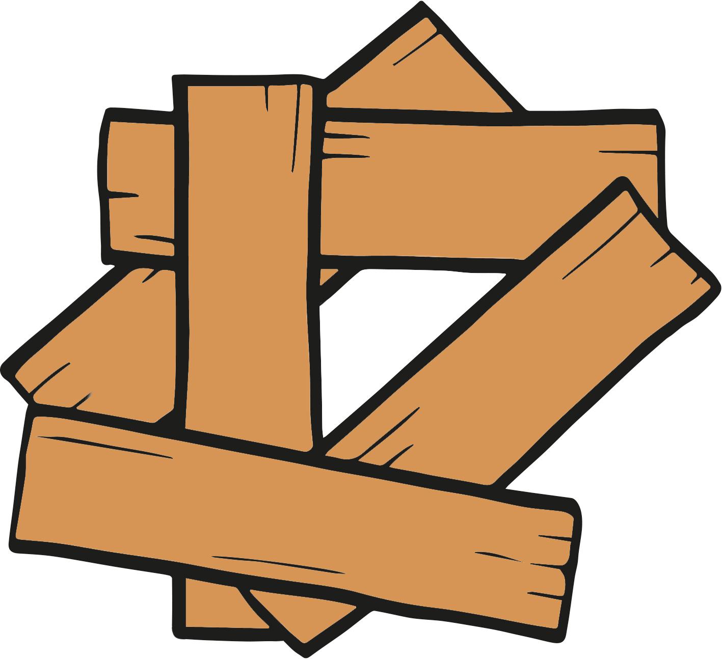 illustration of planks of wood